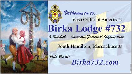 A little history about our lodge Birka732!